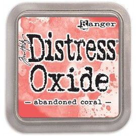 Abandoned Coral. Distress Oxide Ink. Tim Holtz Ranger